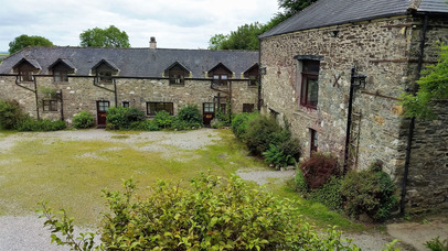 Central Courtyard Sherrill Farm Cottages Devon